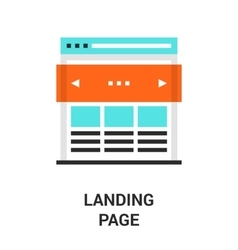 landing page icon vector image