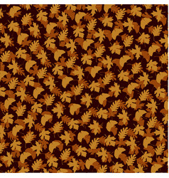 Layered leaf pattern on brown vector