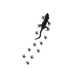 lizard chameleon gecko silhouette black black vector image
