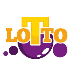 lotto promotional emblem with shiny balls and big vector image