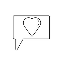 love talk icon vector image