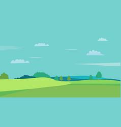 nature landscape with sky background hills vector image
