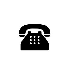 old typical phone flat icon vector image