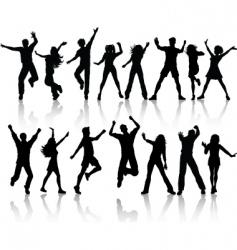 people dancing vector image
