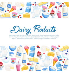poster daity products vector image