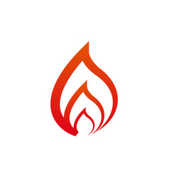 Red flames design concept vector