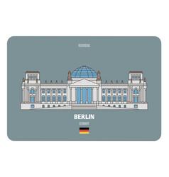 Reichstag in berlin germany vector