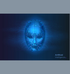 robot or artificial intelligence ai cyber face vector image
