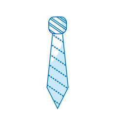 Silhouette elegant tie to use in special day vector