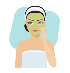 skin care - mask vector image
