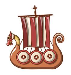 small ship icon cartoon style vector image