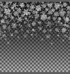 snowflakes pattern seamless christmas background vector image