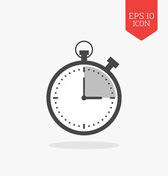 Stopwatch timer icon flat design gray color symbol vector