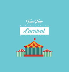Style background carnial funfair collection vector