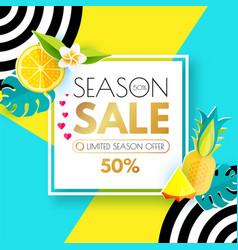 Summer sale layout design template paper art vector