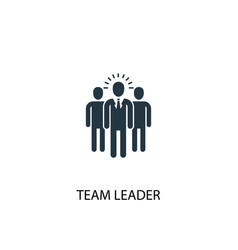 Team leader icon simple element vector
