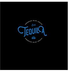 Tequila emblem vector