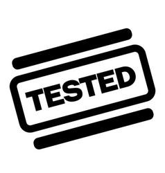 tested black stamp vector image