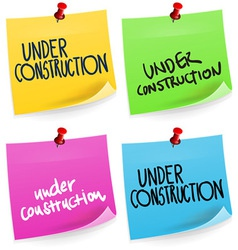 Under Construction Sticky Note vector