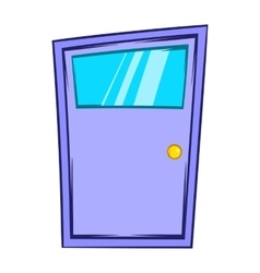 Violet door icon cartoon style vector image  sc 1 st  VectorStock & Cartoon Home Window Door Royalty Free Vector Image