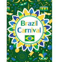 Welcome brazil carnival poster invitation flyer vector