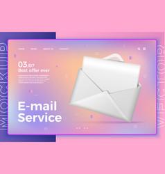 White open letter envelope on modern site vector