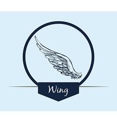 Wings design vector