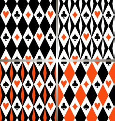 Card suits seamless pattern vector image