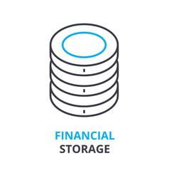 financial storage concept outline icon linear vector image vector image