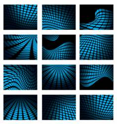 mesh blue collection vector image