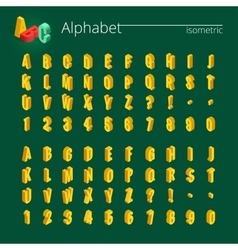 3d isometric alphabet font Isometric vector image vector image