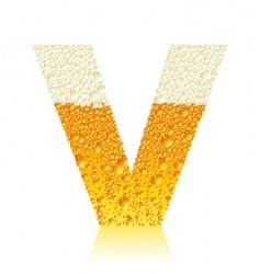 alphabet beer v vector image vector image