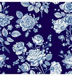 Beautiful seamless rose pattern vector image vector image