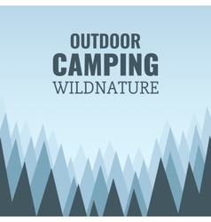 Camping wild forest and wildlife vector image vector image