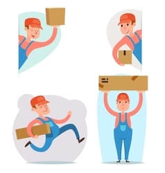 Cargo Freight Box Loading Delivery Shipment Loader vector image vector image