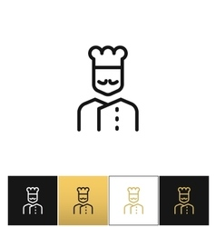 Cook line icon vector image vector image