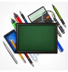 Education concept Blackboard vector image vector image