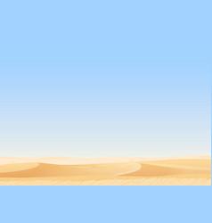empty sky desert dunes egyptian landscape vector image