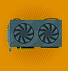 graphics card pop art vector image