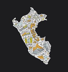 map of peru vector image vector image
