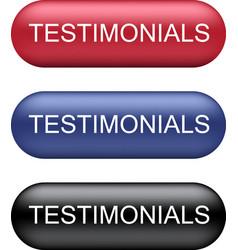 Testimonials buttons collection vector