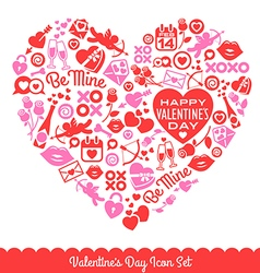 Valentines Day Icons vector image vector image