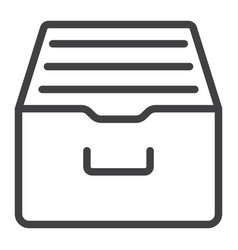 archive storage line icon web and mobile vector image