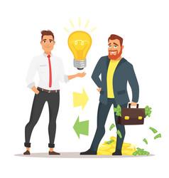 businessman offering an idea vector image