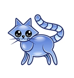 Cute cartoon cat isolated vector image vector image