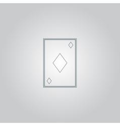 Diamonds card icon vector image vector image