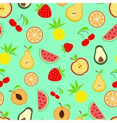 Exotic summer fruits vector image