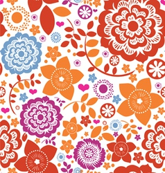 seamless flower paradise vector image vector image