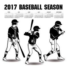 2017 baseball season artwork vector image vector image