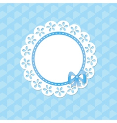 baby card for a boy with a frame vector image